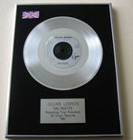 JULIAN LENNON - SALTWATER PLATINUM Single Presentation Disc